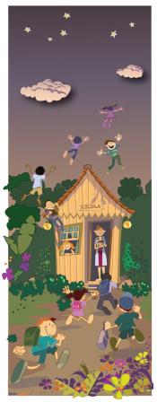 ilustração escola