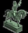 Imagem de Dom Pedro I sobre o cavalo