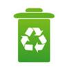 imagem de cesto de lixo contendo o símbolo da reciclagem
