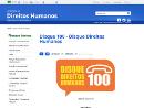 imagem da pagina inicial do site Disque 100 - Disque Direitos Humanos