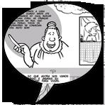 ícone problemas em quadrinho o baú da vovó