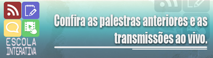 banner de acesso à página da escola interativa transmissões ao vivo