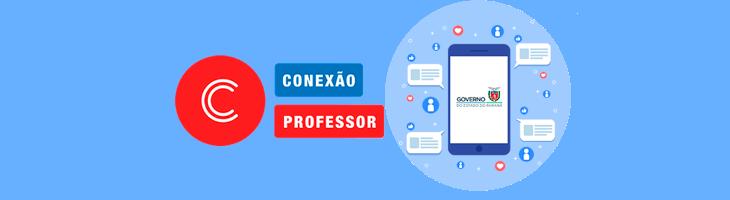 banner de acesso à página conexão professor no youtube