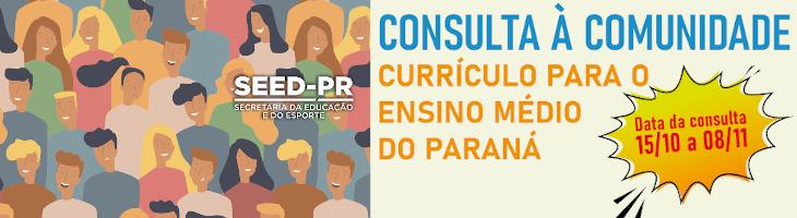 Imagem de acesso à página da consulta pública à comunidade Currículo do Enisno Médio