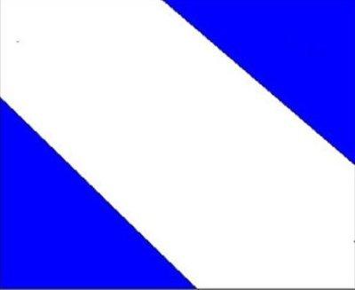 BRANCO: representa a paz e pureza do povo AZUL: representa o céu, as águas puras do Rio Ivaí, o comércio. No centro da Bandeira, o BRASÃO DE ARMAS; representa a riqueza religiosa do nosso município. A faixa BRANCA é inversa da bandeira do Estado do Paraná. A medida oficial da bandeira é de 20 cm por 14 cm.