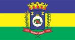 Bandeira do município de Manoel Ribas-PR. A bandeira foi criada em 1.977 e alterada em 1983, sob lei nº 08/83. É representada por um retângulo de 14 módulos de altura e 20 módulos de comprimento. O campo retangular da bandeira divide-se em três faixas distintas e larguras iguais em sentido horizontal, em azul, amarelo e verde, tendo no centro o Brasão do Município. A faixa em azul é o símbolo da justiça, nobreza, perseverança, zelo e lealdade. A faixa amarela no centro do retângulo representa a glória, esplendor, riqueza, grandeza e soberania. A faixa verde representa a abundancia, a alegria, a civilidade e a esperança.