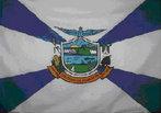 A Bandeira do município foi aprovada pela Lei nº 061/91, de 11 de abril de 1994 e pelo Decreto nº 212/94, de 27 de maio de 1994, por meio de um concurso onde foi escolhido o trabalho de Hemerson Fernando Giachini. A Bandeira, com fundo branco, possui na sua parte central, o brasão com faixas azuis, partindo do lado direito e do lado esquerdo, dando a impressão de raios de sol (representação do esplendor do Brasão).