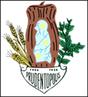 O brasão do município é representado pelos seguintes símbolos: do lado direito as folhas da erva-mate, muito produzida em Prudentópolis; do lado esquerdo ramos de trigo e ao centro o pinhão, onde encontra-se representado o mapa do município, em azul, com seus três distritos identificados por três estrelas.